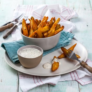 Potato Wedges with Lemon Aioli