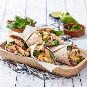 BBQ Sundried Tomato Chicken Wraps
