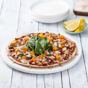 Chorizo and Roast Pumpkin Pizza