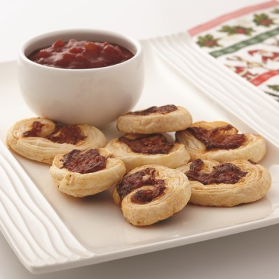 Savoury palmiers for Puff pastry canape ideas