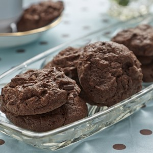 Gluten Free Chewy Triple Chocolate Chip Cookies