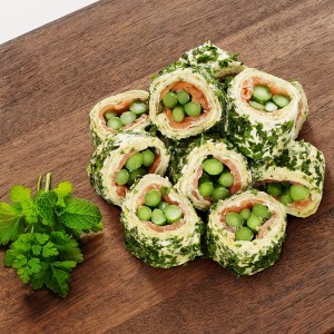 Asparagus, Salmon & Lemon Cheese Pinwheels