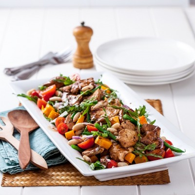 Balsamic Chicken & Pumpkin Salad